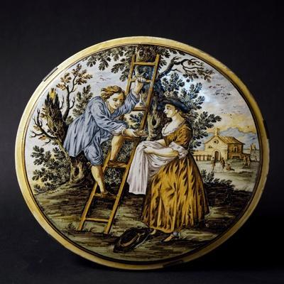 Plate with Painted Figures