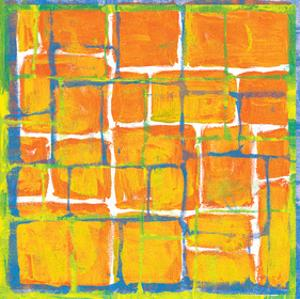 Blue Over Orange by Carmine Thorner