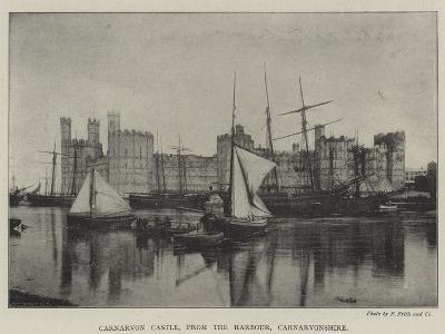 Carnarvon Castle, from the Harbour, Carnarvonshire--Giclee Print