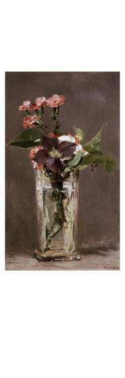 Carnations and Clematis in a Crystal Vase-Edouard Manet-Giclee Print