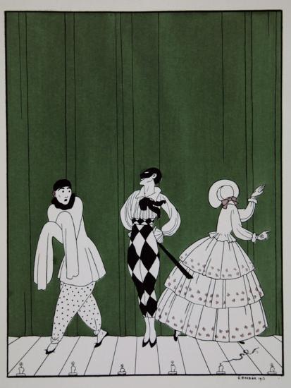 Carnaval, from the Series Designs on the Dances of Vaslav Nijinsky-Georges Barbier-Giclee Print
