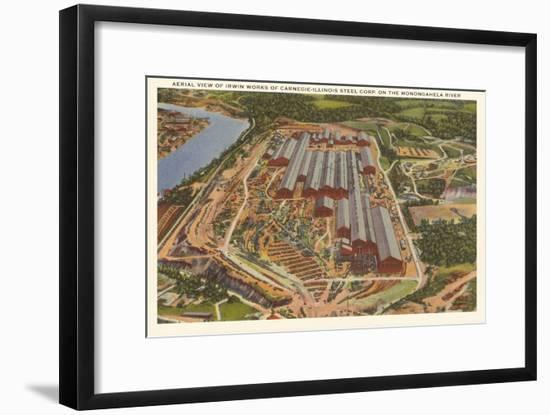 Carnegie-Illinois Steel Mill, Pittsburgh, Pennsylvania--Framed Art Print