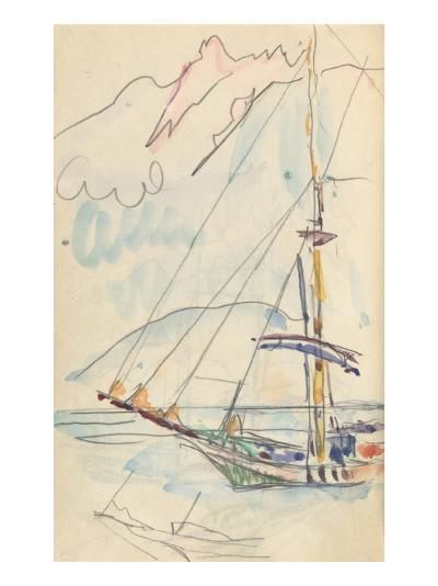 Carnet : Bateau-Paul Signac-Giclee Print
