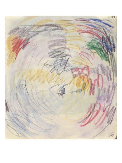 Carnet : Composition circulaire et annotations manuscrites-Paul Signac-Giclee Print