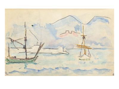 Carnet : La côte Nord de la Corse-Paul Signac-Giclee Print