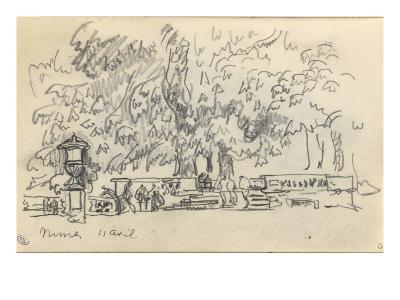 Carnet : Parc à Nîmes-Paul Signac-Giclee Print