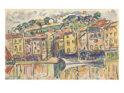 Carnet : Port d'une ville de la côte Méditérranéenne-Paul Signac-Giclee Print