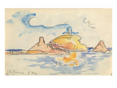 Carnet : Vue de l'île Rousse-Paul Signac-Giclee Print