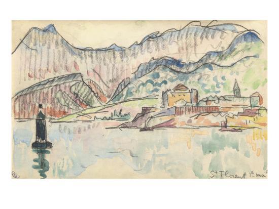 Carnet : Vue de saint Florent-Paul Signac-Giclee Print