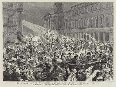 Carnival and Torchlight Procession at Ryde, Isle of Wight--Giclee Print