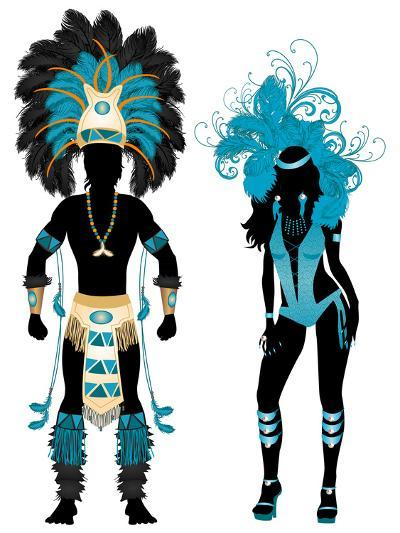 Carnival Blue Couple-BasheeraDesigns-Art Print