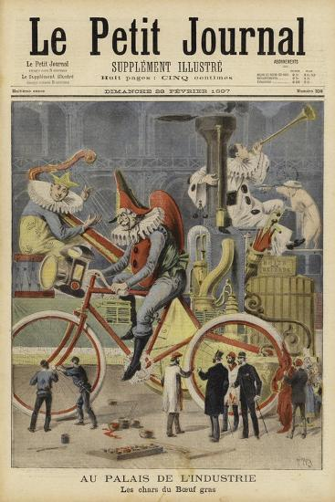 Carnival Floats Being Prepared at the Palais De L'Industrie, Paris--Giclee Print