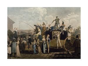 Carnival in 1810, Print by Philibert Louis Debucourt (1755-1832)