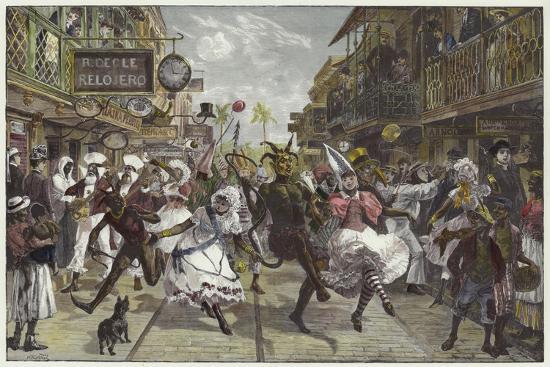 Carnival in Port of Spain, Trinidad-William Heysham Overend-Giclee Print