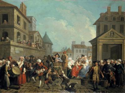 Carnival in the Streets of Paris, 1757-Etienne Jeaurat-Giclee Print
