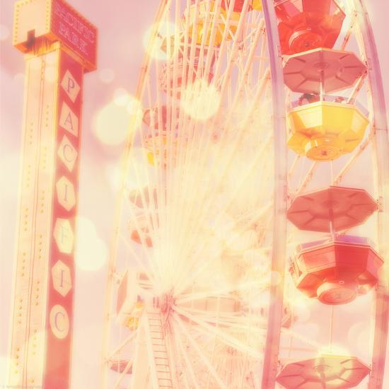Carnival Lights on a Big Wheel-Myan Soffia-Photographic Print