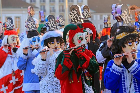Carnival of Basel (Basler Fasnacht), Basel, Canton of Basel City, Switzerland, Europe-Hans-Peter Merten-Photographic Print