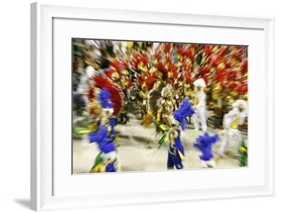 Carnival Parade at the Sambodrome, Rio de Janeiro, Brazil, South America-Yadid Levy-Framed Photographic Print