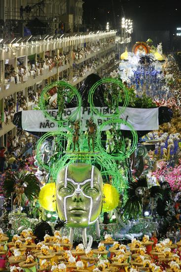Carnival Parade at the Sambodrome, Rio de Janeiro, Brazil, South America-Yadid Levy-Photographic Print