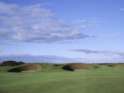 Carnoustie Golf Links, side-by-side bunkers-Stephen Szurlej-Premium Photographic Print