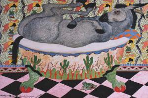 Mule in Bath by Carol Grigg