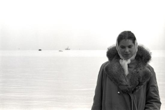 Carol Hall at Seattle's Fisherman's Wharf on a Misty Morning, Puget Sound, Seattle, Washington-Allan Grant-Photographic Print