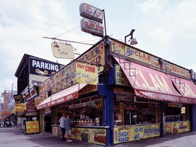 Coney Island Clams, Dogs, Heroes and Shish Kabob by Carol Highsmith