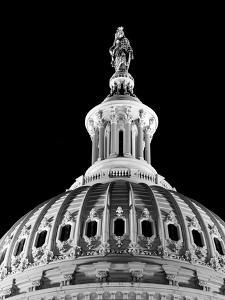 Dome of the Us Capitol Building with Columbia Statue by Carol Highsmith