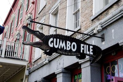 Gumbo File Alligator Sign by Carol Highsmith