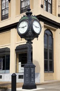 Historic Clock On Fountain Square In Montgomery, Alabama by Carol Highsmith