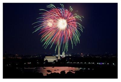July 4th fireworks, Washington, D.C.