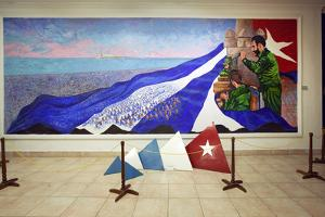 Oil Painting of Fidel Castro at a Revolution Museum in Havana, Cuba by Carol Highsmith
