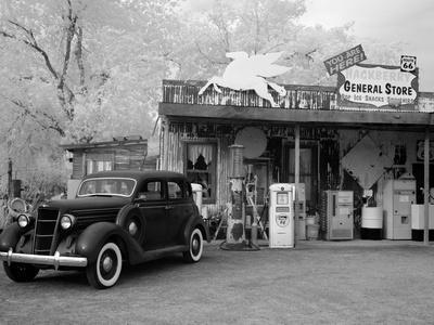 Old Car and Gas Pump-Hackberry General Store