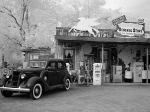 Old Car and Gas Pump-Hackberry General Store by Carol Highsmith