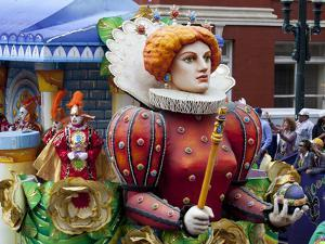 Queen Float in Mardi Gras Parade by Carol Highsmith