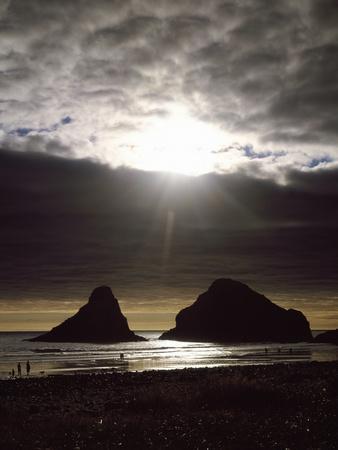 Sunset on the Rocky Oregon Coast