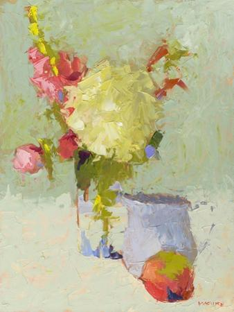 Hydrangea with Blue Pitcher by Carol Maguire