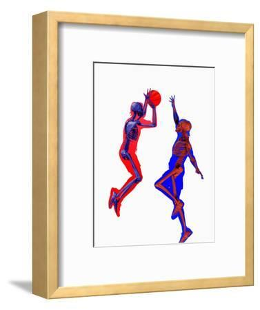 Basketball Players Showing Skeletons