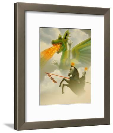 Businessman-Knight Fighting Dragon