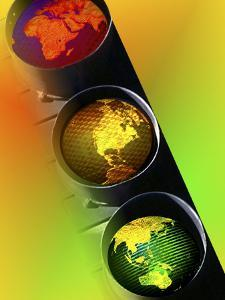 Globes in Traffic Light by Carol & Mike Werner