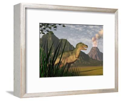 Illustration of a Tyrannosaurus Rex Dinosaur and the Cretaceous Period