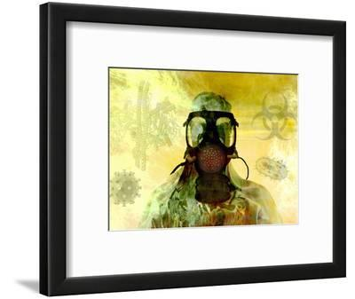 Illustration of Risk, Showing a Person in Hazardous Materials Suit and Face Mask
