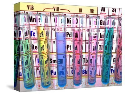 Test Tubes in Front of a Periodic Table
