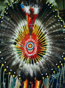 Detail of Cheyenne Headdress, USA by Carol Polich