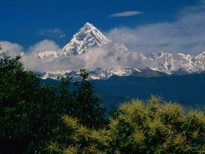 Mt. Machupuchare in the Annapurnas Range, Machhapuchhare, Gandaki, Nepal