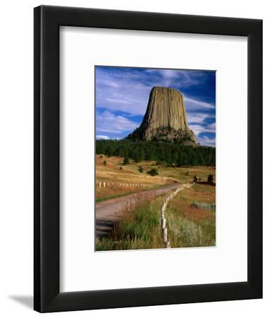 Road Leading to Devil's Tower National Monument, Wyoming, USA