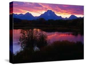 Sunset Over Snake River, Oxbow Bend, Grand Teton National Park, USA by Carol Polich