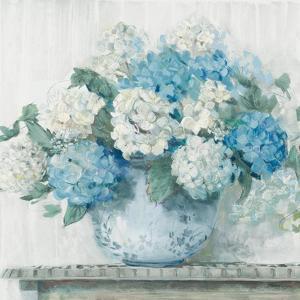 Blue Hydrangea Cottage Crop by Carol Rowan
