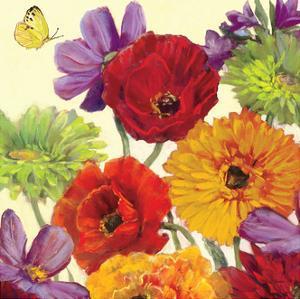 Butterfly Flower Scatter Crop III by Carol Rowan