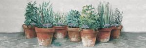 Pots of Herbs II Cottage v2 by Carol Rowan